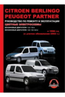 Citroen Berlingo  Peugeot Partner с 1996 г. (+рестайлинг 2002 г.) Руководство по ремонту и эксплуатации