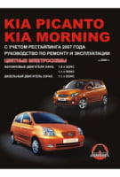 Kia Picanto  Kia Morning c 2003 г. (+рестайлинг 2007 г.) Руководство по ремонту и эксплуатации