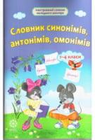 Словник синонімів, антонімів, омонімів 1-4 класи