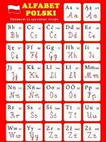 Плакат Польський алфавіт. Прописні і друковані літери.