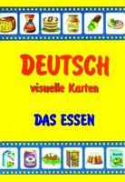 Їжа. Набір карток німецькою мовою. Deutsch, visuelle Karten. Das Essen.