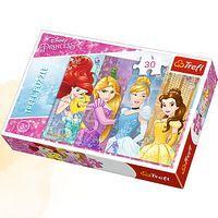 Пазли - (30 елм.) - Казкові принцеси / Дісней принцеси