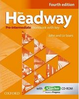 Підручник New Headway, 4th Edition Pre-Intermediate: Workbook with Key & iChecker CD Pack