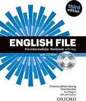 Підручник English File 3rd Edition Pre-Intermediate: Workbook and iChecker with Answer Booklet