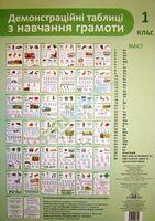 Демонстраційні табл. з навч.грамоти, 1 кл