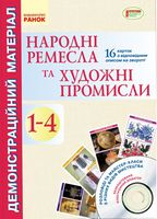 Демонстраційний матеріал. Народні ремесла та художні промисли 1-4 кл.+ ДИСК (Укр) НОВА ПРОГРАМА