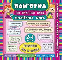 Англійська мова. Розмовні теми та діалоги. 2-4 класи