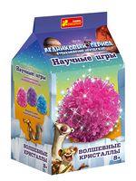 Набір для дослідів Чарівні кристали. Рожевий.Льдовиковий період.
