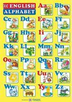 Плакат «Англійський алфавіт» двосторонній  (для учня).
