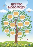 Дерево мого роду+довідник на тему Моя сімя. Плакат