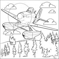 Розмальовка за номерами на полотні мал Дісней Літачки