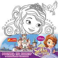 Розмальовка за номерами на полотні мал Дісней Принцеса Софія