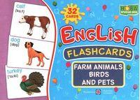 Комплект флеш-карток з англійської мови. Тварини і птахи ферми