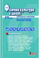 Фізична культура в школі Навчальна програма для 5-9 кл (2018 рік)
