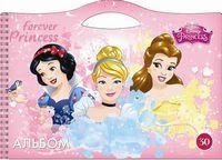 Альбом для малювання ЛІЦ (пруж. 30арк), Серія Принцеси Діснея сумка Ц632025У