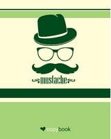 Блокнот для нотаток ф.В5, бок. пружина, 60 арк. офсет, клітинка Серія Mustache and hat Ц355035У