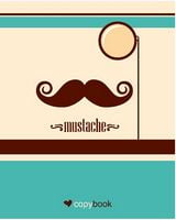 Блокнот для нотаток ф.В5, бок. пружина, 60 арк. офсет, клітинка Серія Mustache and monocle Ц355035У