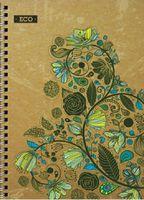 Блокноти А5 ЕКО Блокнот А5, Еко папір  50арк., тверда обкл.пружина Серія Квіткова фантазія