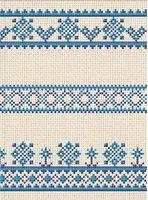 Зошит офісний клітинка, Серія Вишиванка Блакитний орнамент