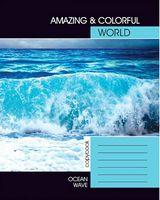 Зошит студентський Блокнот для нотаток  клітинка Океанська хвиля