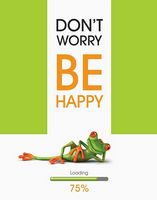 Зошит студентський Блокнот для нотаток ф.А5, бок. пружина, 100 арк., офсет, клітинка Серія Be Happy жабеня