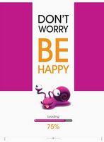 Зошит студентський Блокнот для нотаток ф.А5, бок. пружина, 100 арк., офсет, клітинка Серія Be Happy равлик