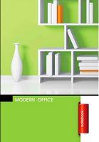 Зошит студентський Блокнот для нотаток ф.А5, бок. пружина, 50 арк. офсет, клітинкаСерія Modern office  light green