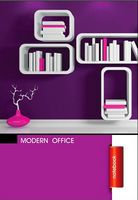 Зошит студентський Блокнот для нотаток ф.А5, бок. пружина, 50 арк. офсет, клітинка Серія Modern office  violet