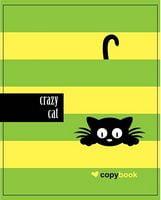 Зошит студентський Блокнот для нотаток ф.В5, бок. пружина, 60 арк. офсет, клітинка Серія Crazy cat on light green
