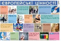 Плакати. Плакат Європейські цінності. ЗПП014