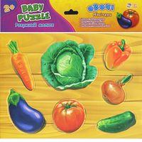 М'які пазли Розумний малюк  Овочі (у)