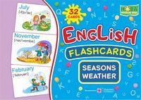 Seasons. Weather Пори року. Погода. Комплект флеш-карток з англійської мови