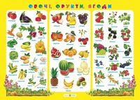 Овочі, фрукти, ягоди. Плакат