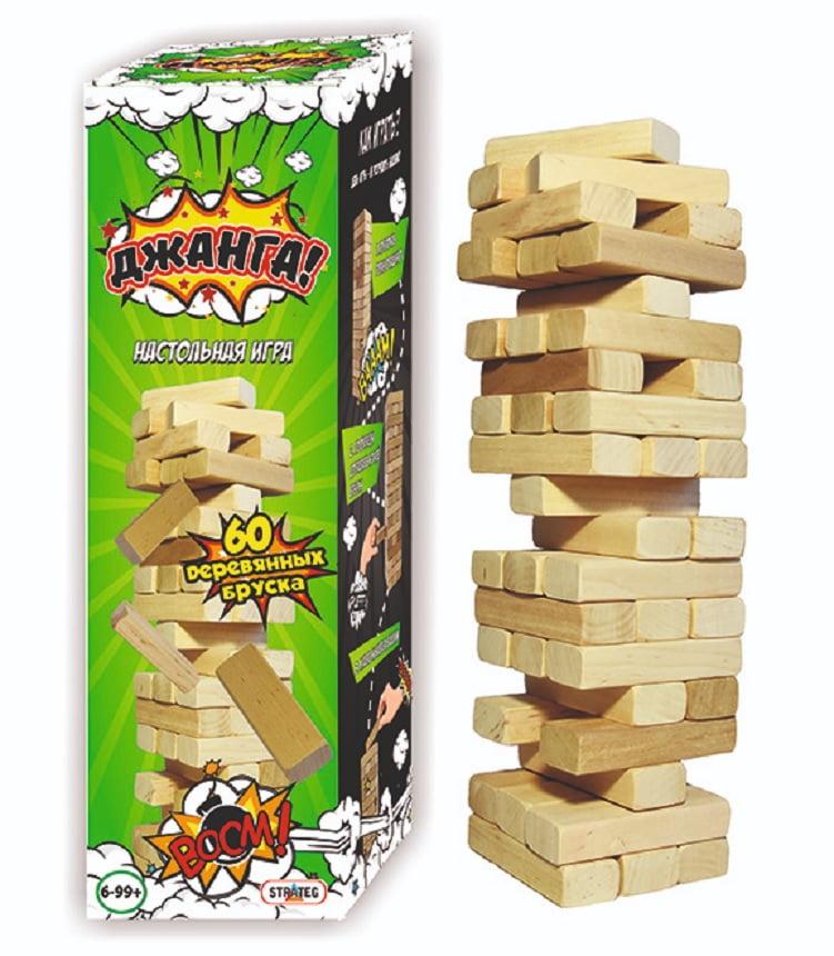 Настільна гра Джанга, 60 брусків
