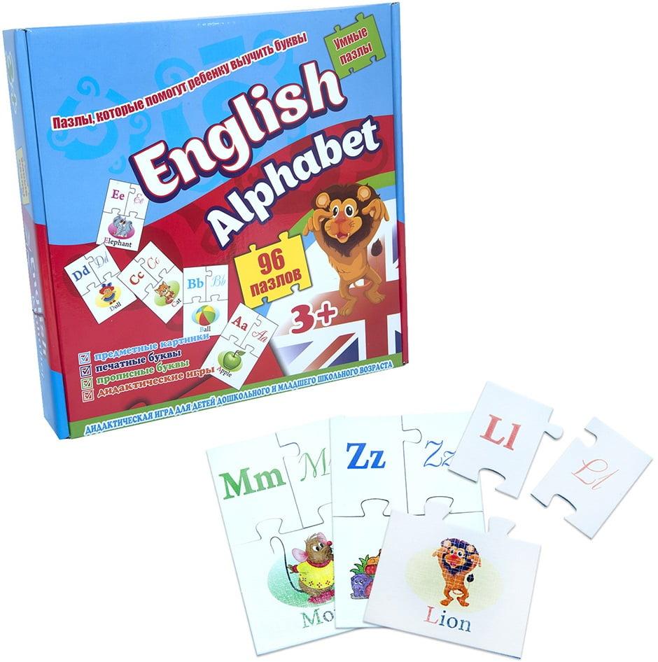 Обучающие пазлы English alphabet