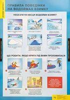 ПЛАКАТ Правила поведінки на водоймах взимку
