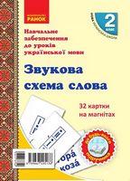 НУШ 2 кл. Картки на магнітах. Укр. мова. Звукова схема слова до будь-якого підручника (Укр)