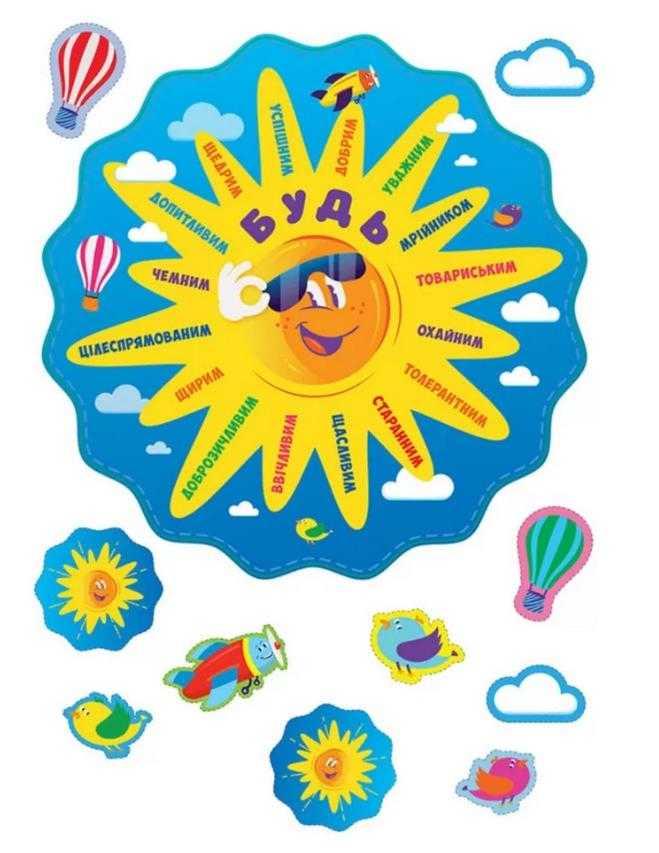 Декор класу сонечко Поради учням НУШ
