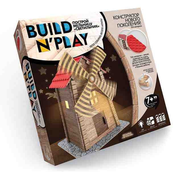 Конструктор механический Мельница BUILDNPLAY 7+ Danko Toys