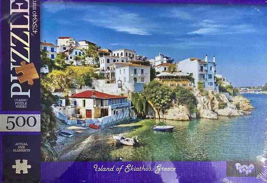 Пазлы 500 элементов Island of Skiathos Greece Danko Toys