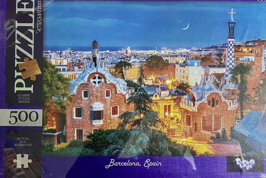 Пазлы 500 элементов Barcelona Spain Danko Toys