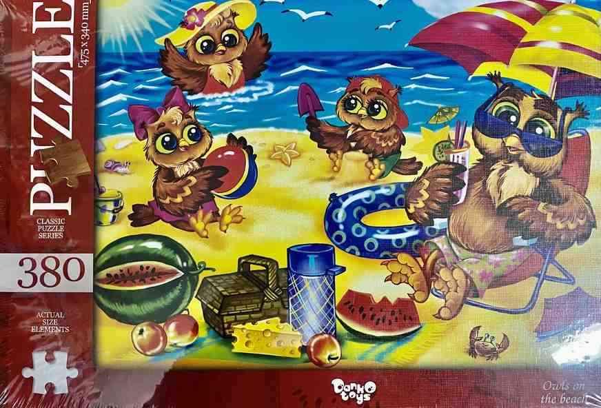 Пазлы 380 элементов Owls on the beach Danko Toys