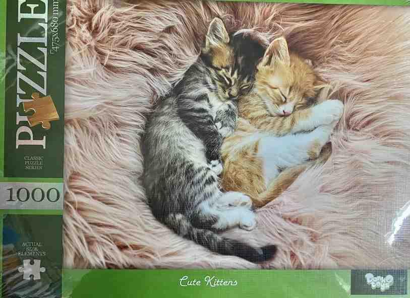 Пазлы 1000 элементов Cute Kittens Danko Toys