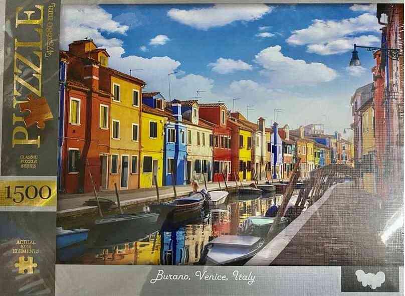Пазлы 1500 элементов Burano Venice Italy Danko Toys