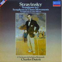 SYMPHONY in C/SYMPHONY in Three Movements (L`Orchestre de la Suisse Romande, Charles Dutoit)  (LP)