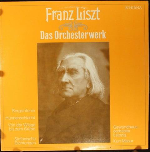 Franz Liszt – Gewandhausorchester Leipzig, Kurt Masur – Bergsinfonie · Hunnenschlacht · Von Der Wiege Bis Zum Grabe