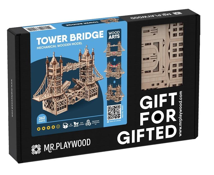 """Тауерський міст """"S"""". Механічна дерев'яна 3D-модель"""