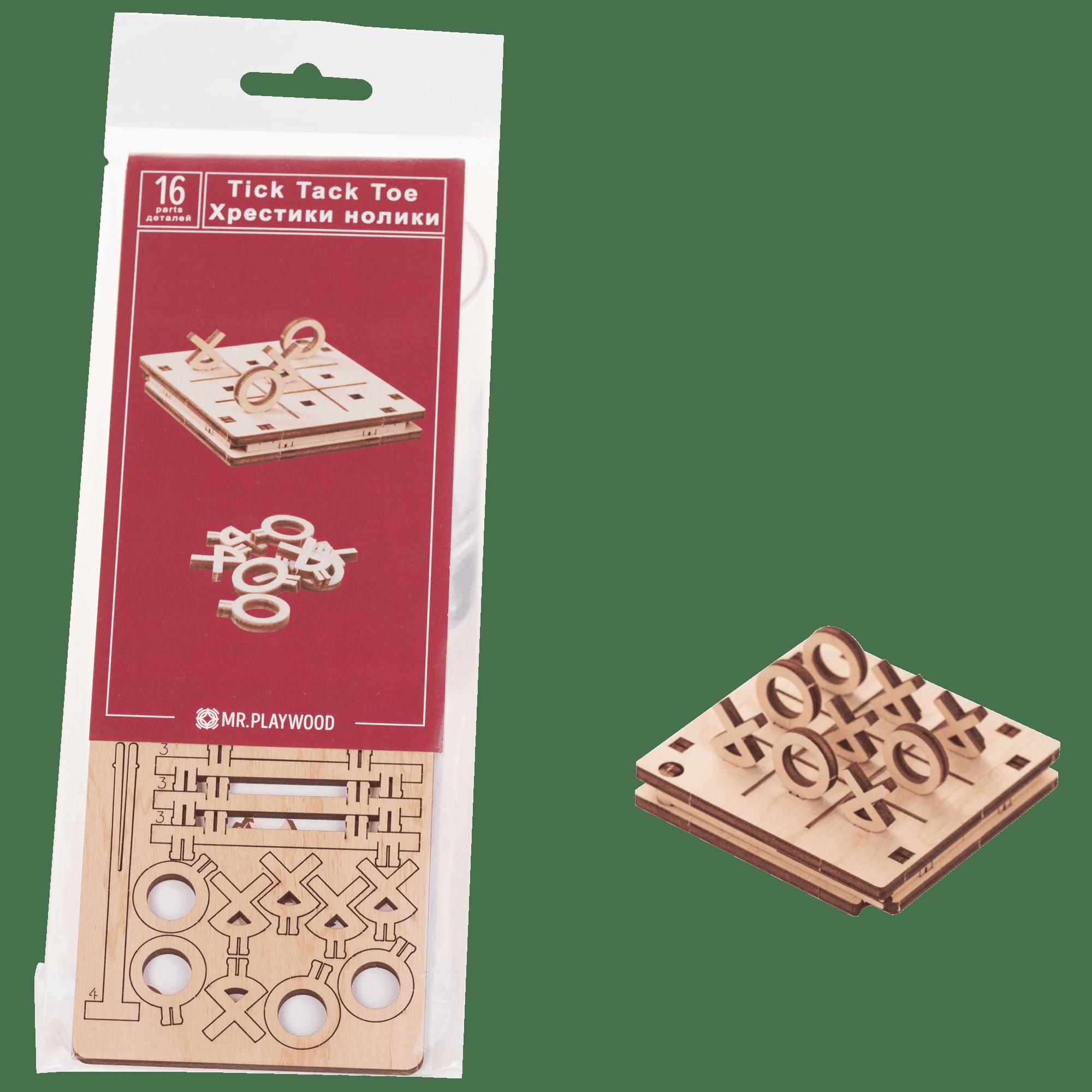 """Гра """"Хрестики нолики""""  №2. Дерев'яна 3D-модель"""