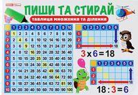 Тренажер Пиши та стирай Таблиця множення (Укр)